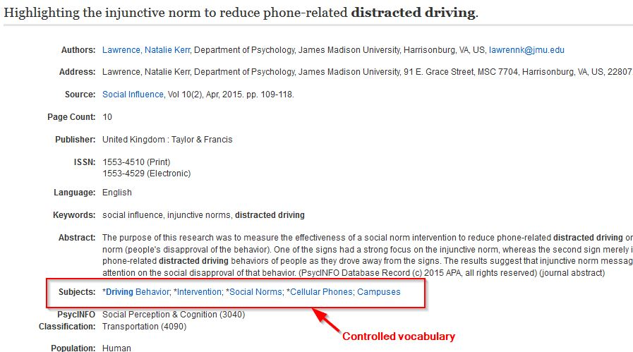 cognitive psychology cell phone induced driver distraction