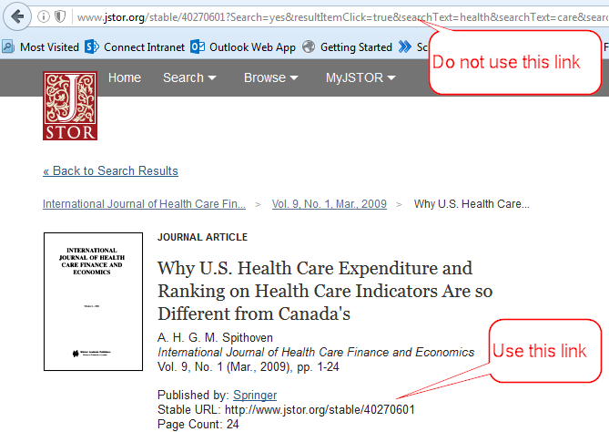 image showing article in JSTOR database