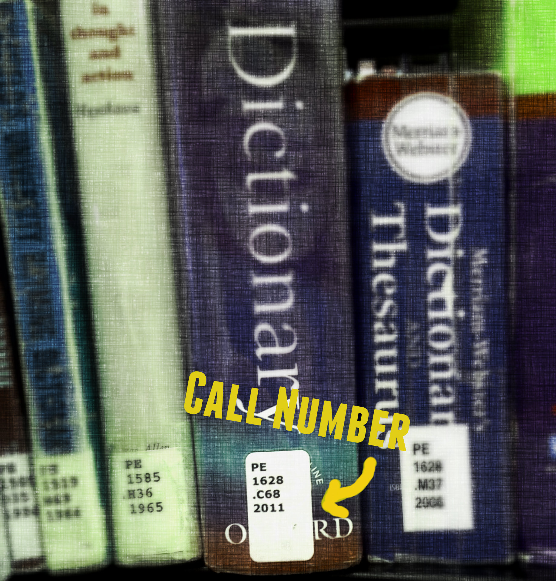 picture of library call numbers