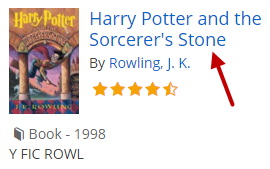 "Screenshot of clicking the book title, ""Harry Potter and the Sorcerer's Stone."""