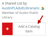 Add a Catalog Item is indicated.