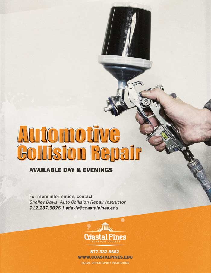 Poster for CPTC Automotive Collision Repair Program