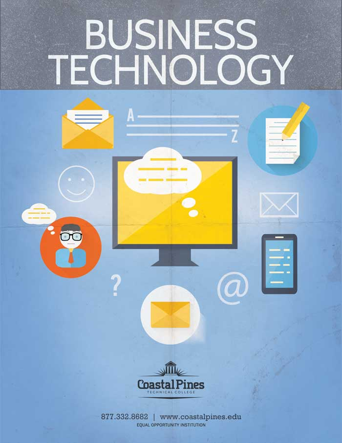 Promotional poster for Business Technology program