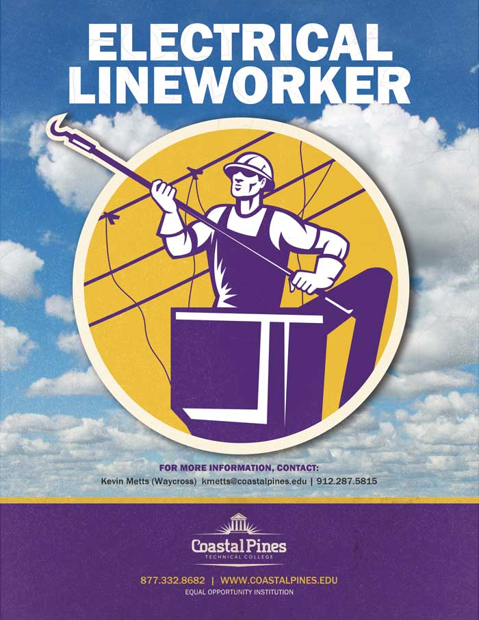 Image promotional poster for electrical lineworker program