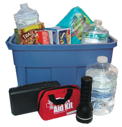 Image of Weather Ready tub with supplies
