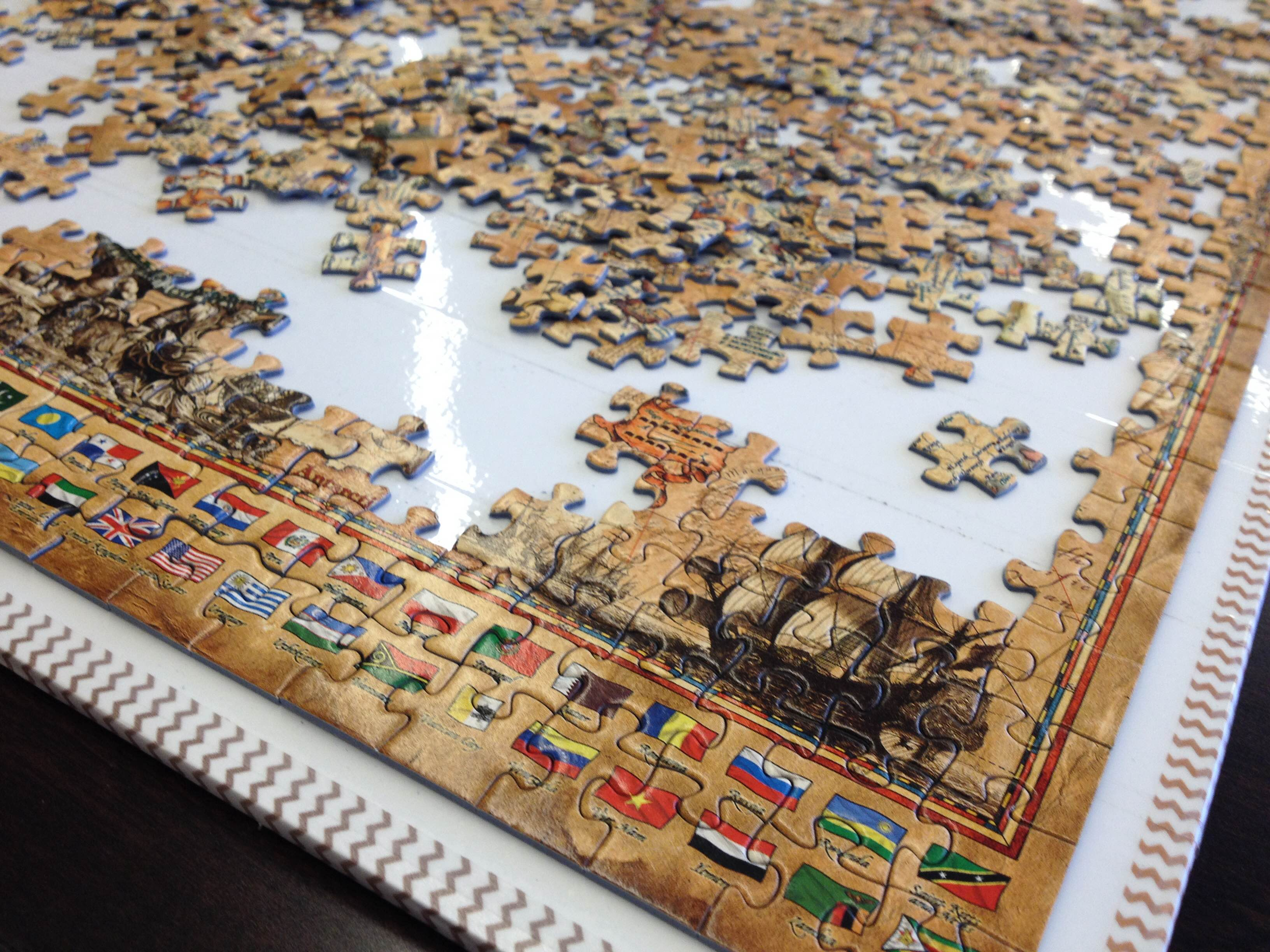 A photograph of a jigsaw puzzle