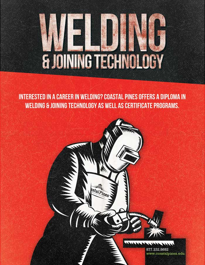 Promotional poster for CPTC Welding & Joining Technology program