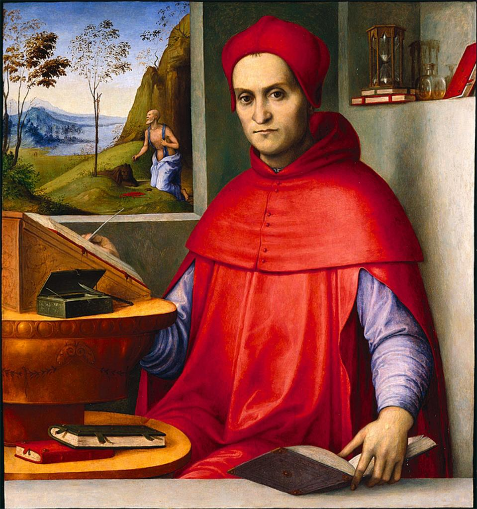 Image of the reproduction of the painting Portrait of a Cardinal in his Study