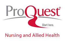 ProQuest Nursing and Allied Health database logo