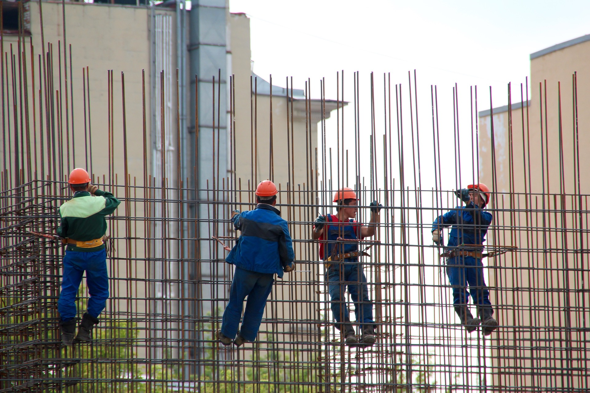Image photograph of construction workers