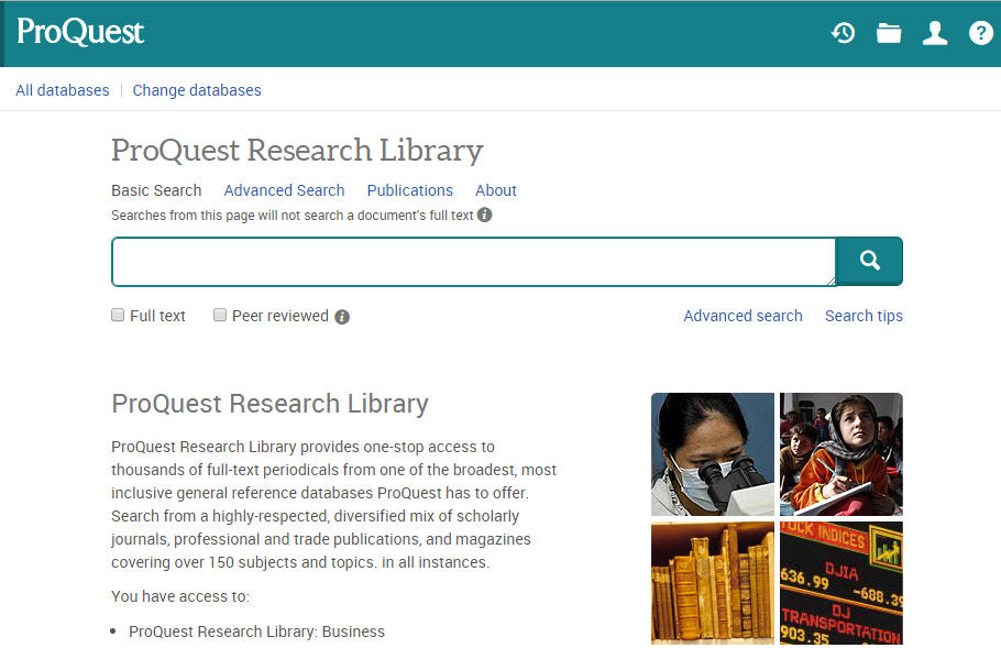 Proquest dissertations search business premiums