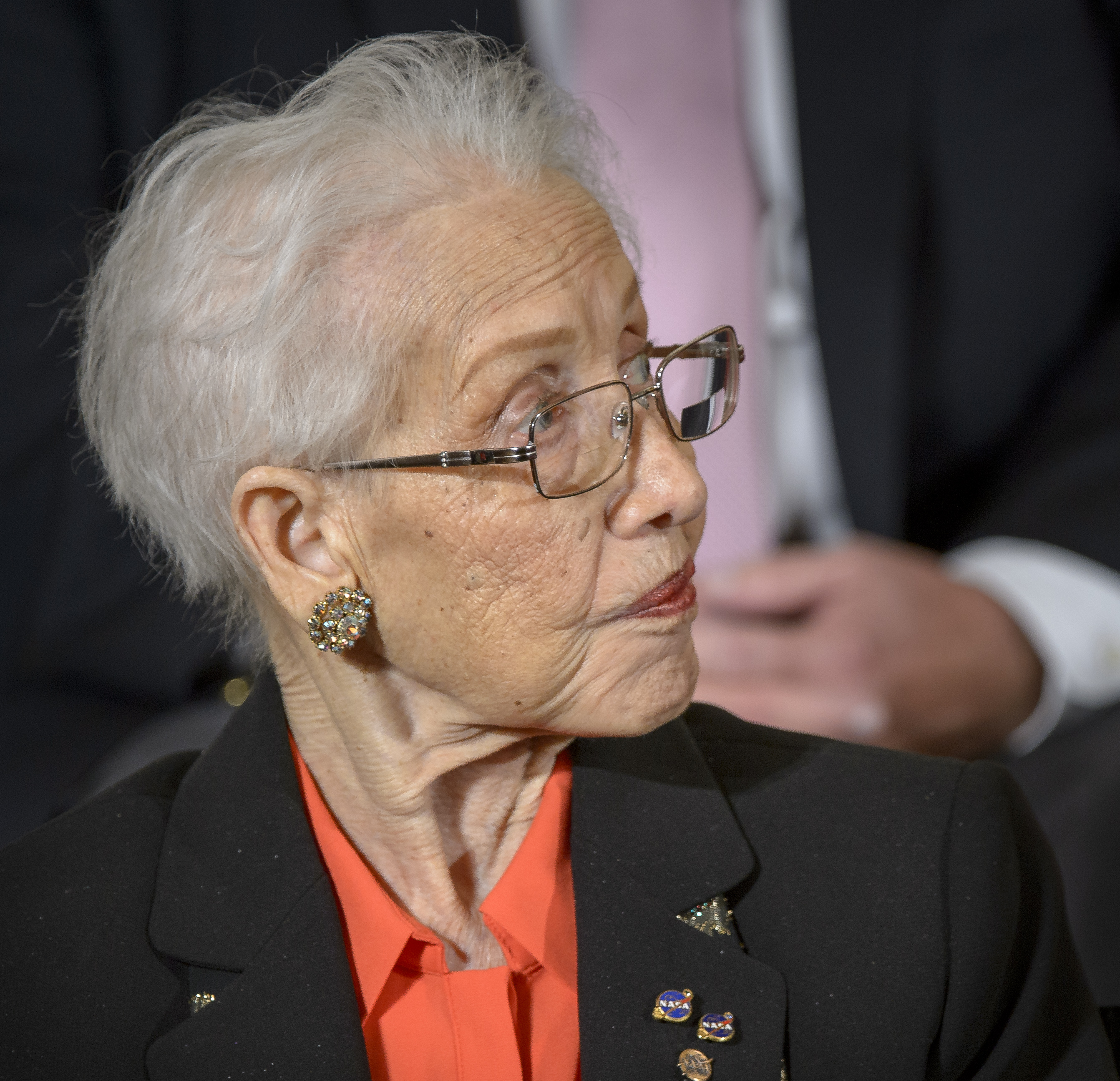 Katherine Johnson receiving the Presidential Medal of Freedom