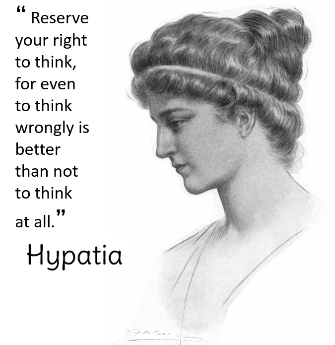 Hypatia image and quote