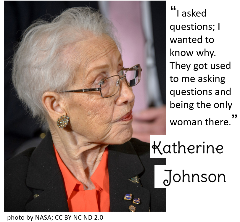 Katherine Johnson picture and quote