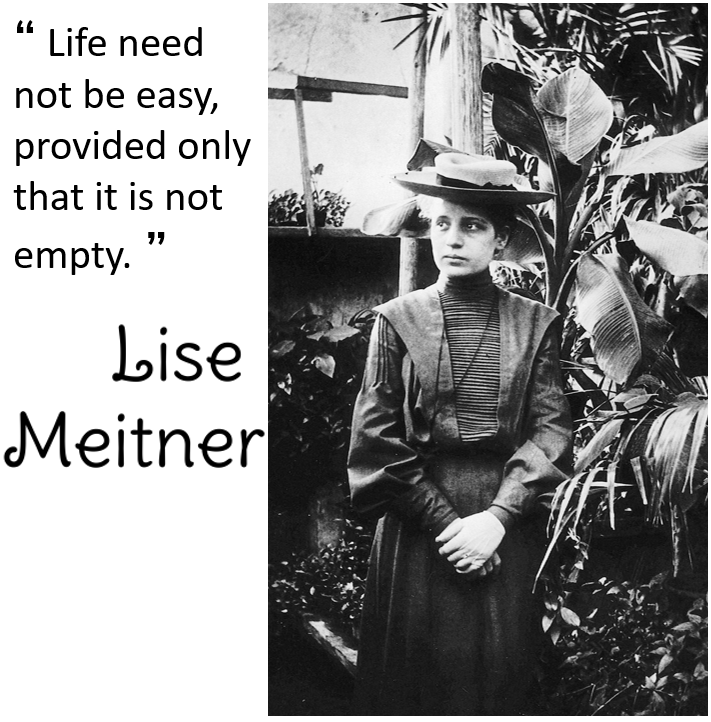 Lise Meitner photo and quote