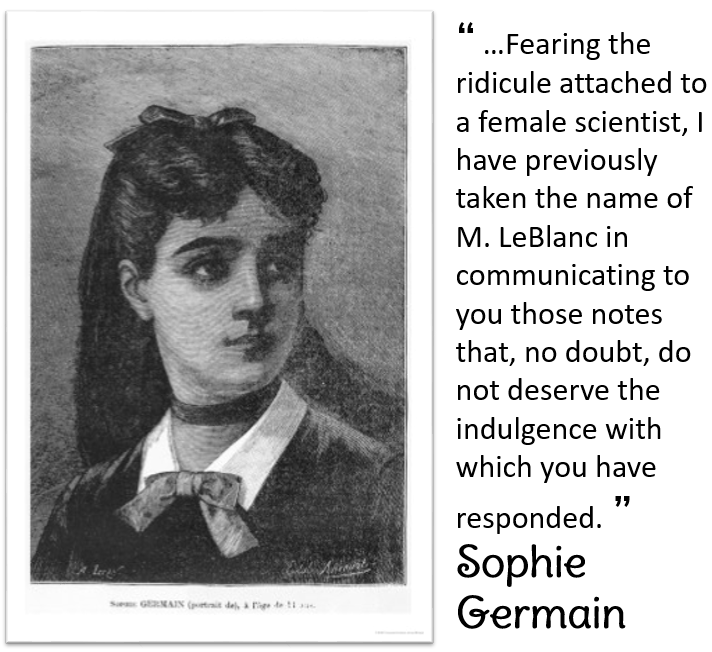 Sophie Germain picture and quote
