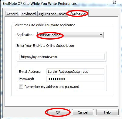 Using cite while you write endnote basic and desktop support enter your login information for your endnote basic account and then click ok this action lets word access the citations in your library ccuart Image collections