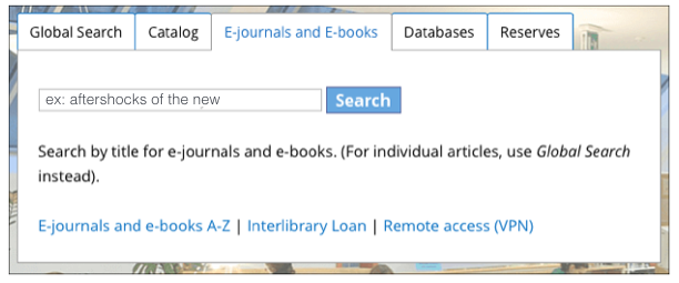 E-journals and E-books