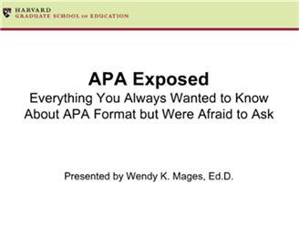 apa citation unpublished research paper
