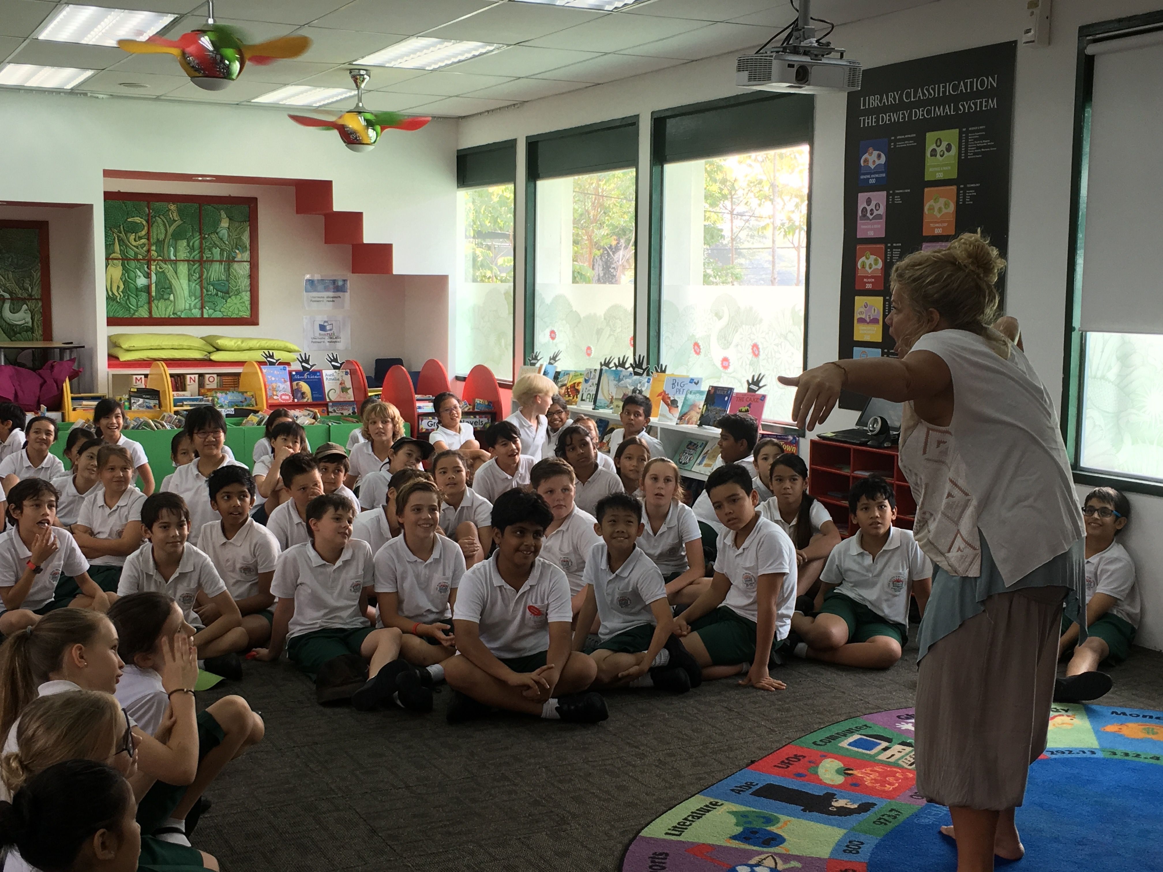 British Storyteller Nicky Bingham Visited The Library In March 2016 With An  Hour Long Story Session For The Whole Of Year 6 Nicky Is A Classically  Trained