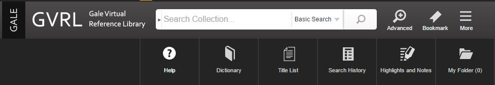 Gale Virtual Library - For more assistance, click the icon with three horizontal lines that says More and then click Help.