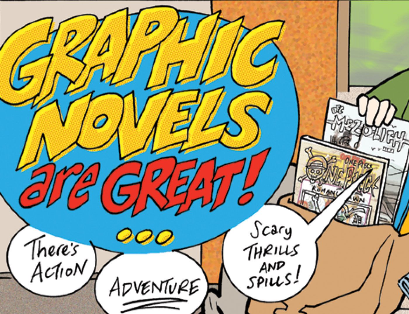 Character Design Graphic Novels : Mcspedden elementary library children s book week graphic
