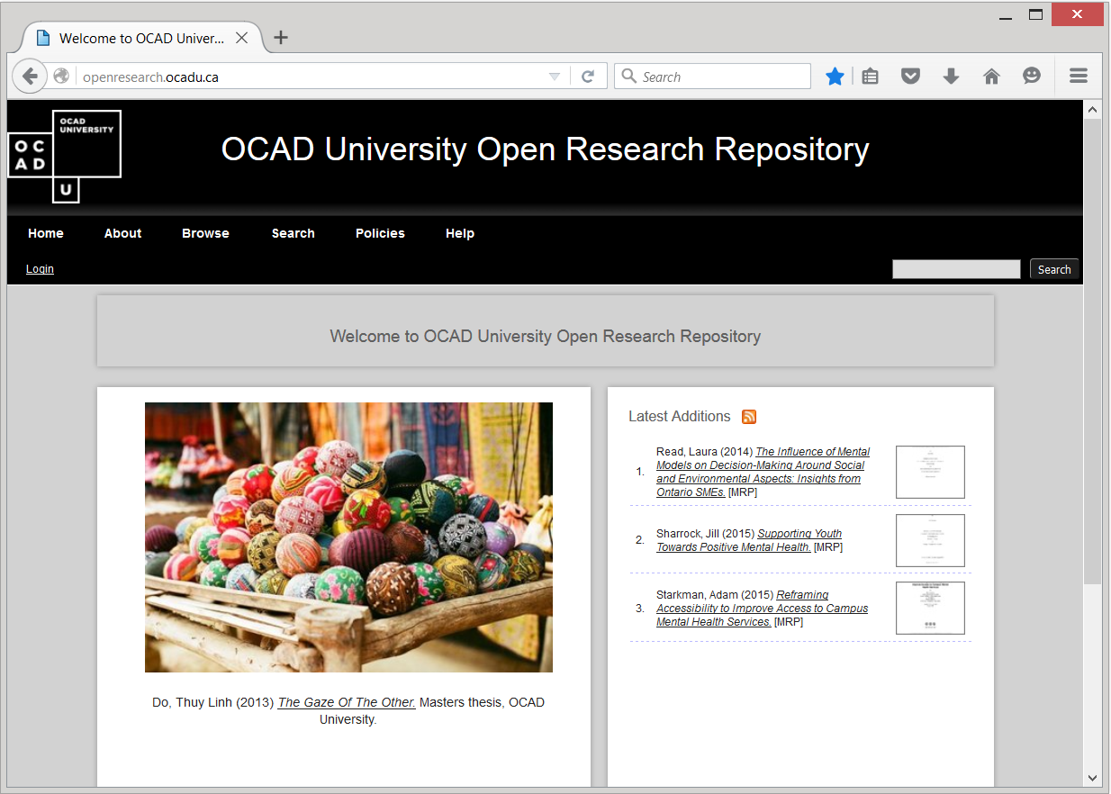 Login to Open Research Repository