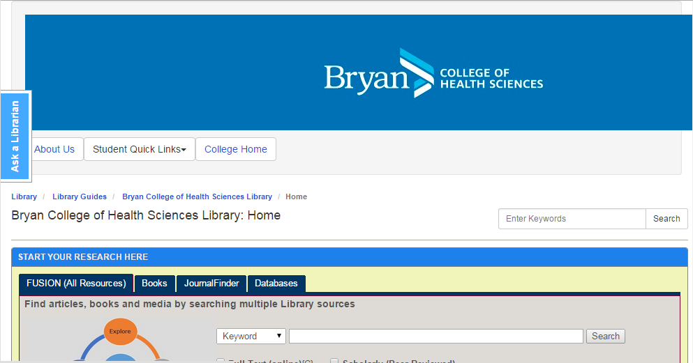 Bryan Health College LibGuides Site