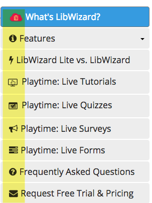 Font awesome icons in LibGuides sidenav layout