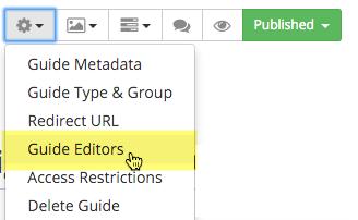 Adding Guide Editors