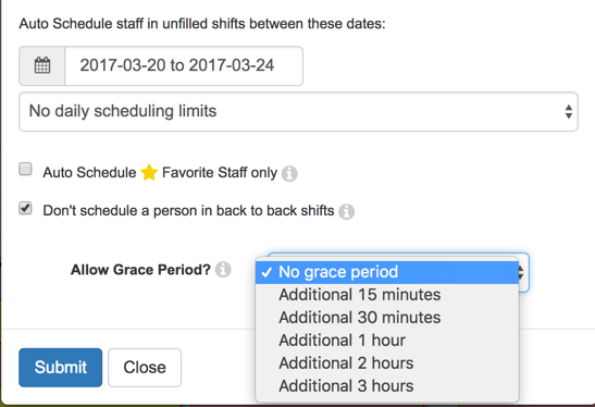 prevent back-to-back scheduling with LibStaffer
