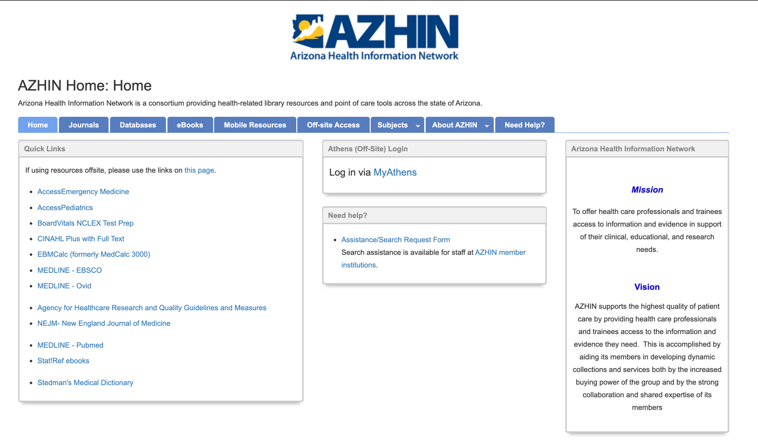 Azhin LibGuides Website