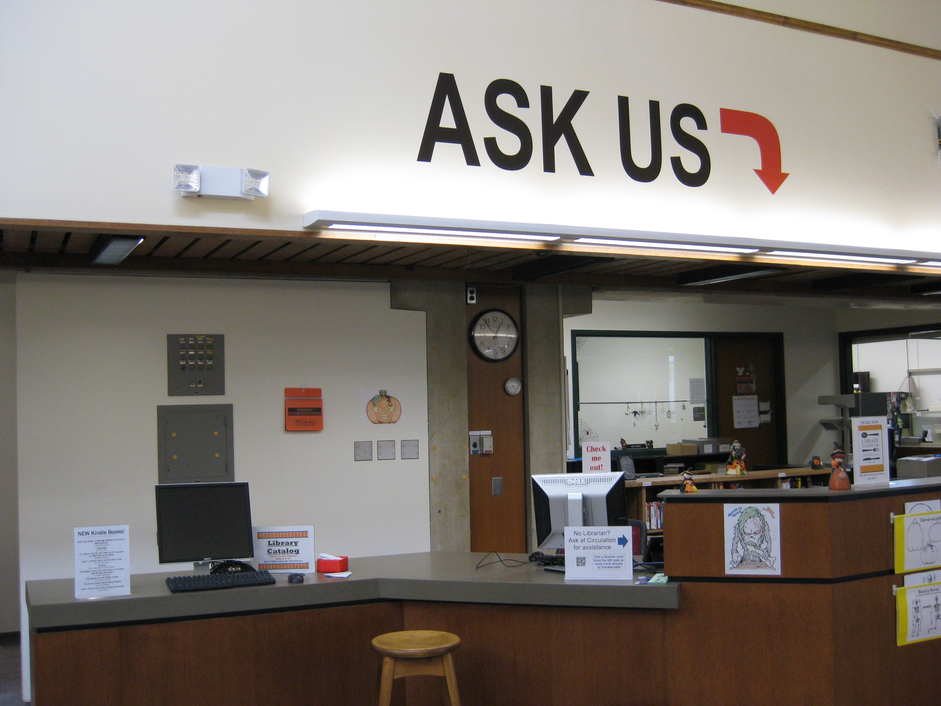 Reference Desk at Van Wagenen Library