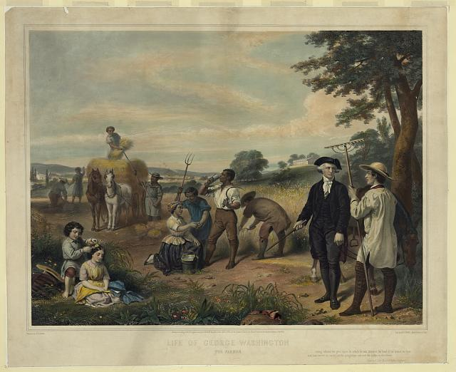 Life of George Washington--The Farmer (paiting by J. B. Stearns)