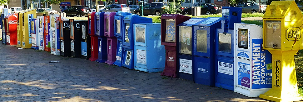 Newspaper Boxes adapted from photo by Mike Licht via flickr, 25 Aug. 2013. CC BY 2.0.