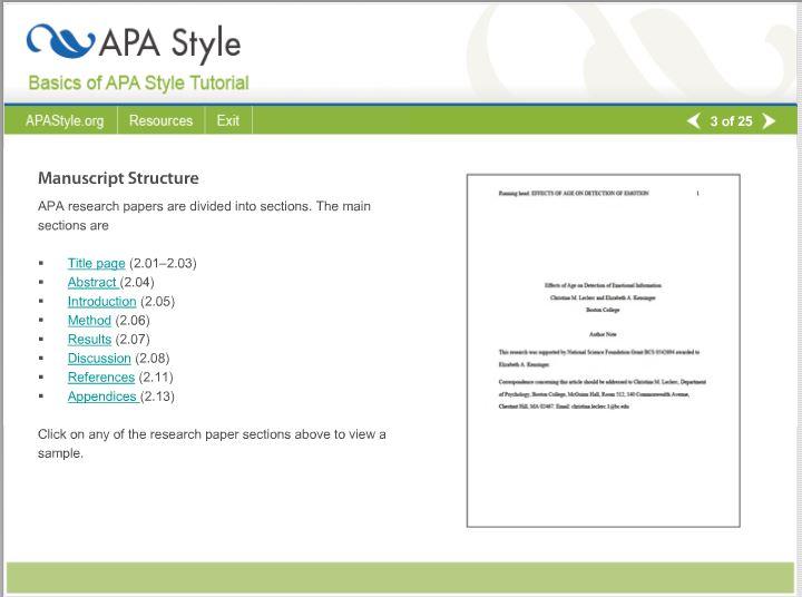 basic apa style