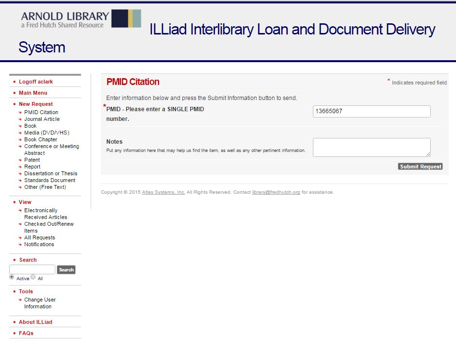 Illiad HowTo And Screenshots  Interlibrary Loan  Document