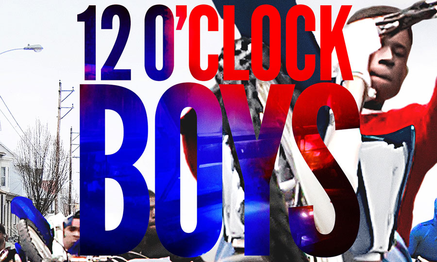 Image of the poster for film 12 O'Clock Boys: An Urban Bike Pack