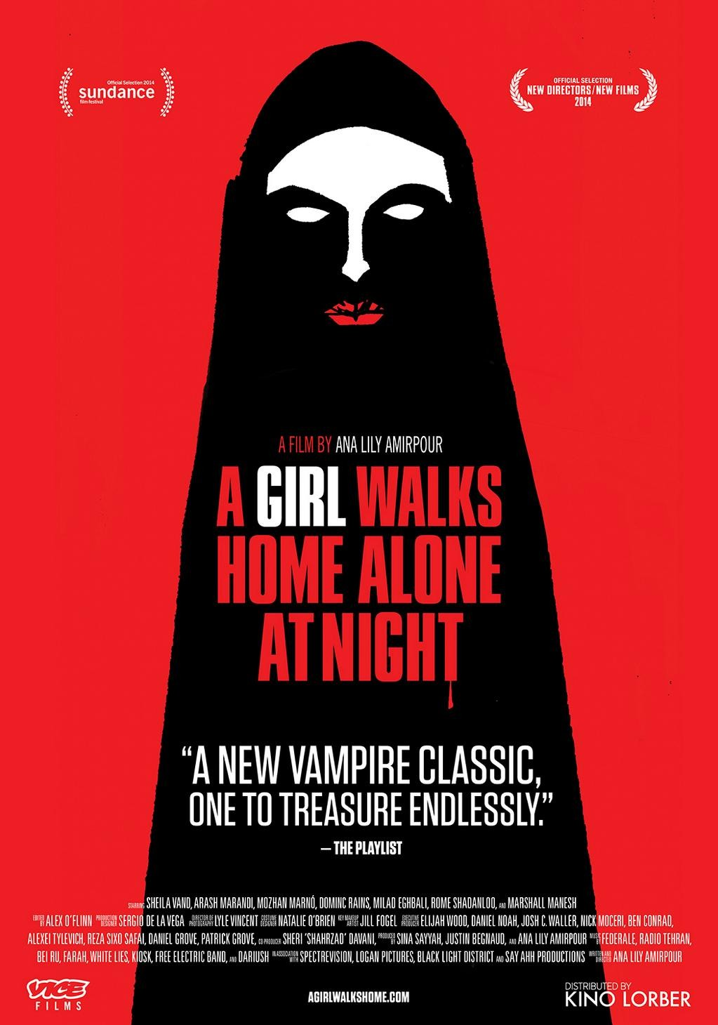 Movie poster for A Girl Walks Home Alone at Night
