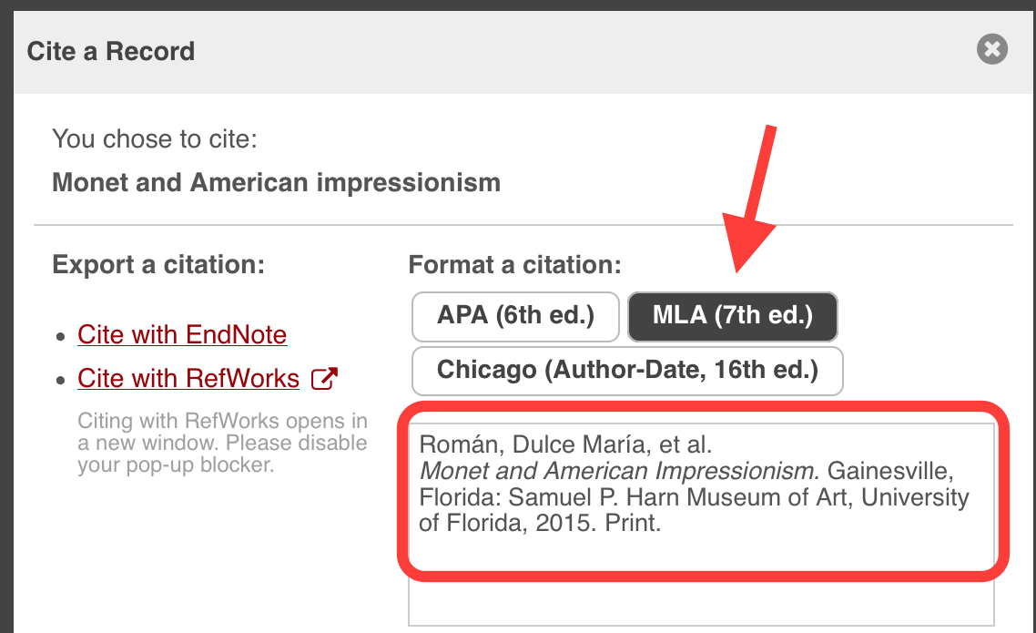 Citation From Google Scholar 3 Choose The Appropriate Format In This  Case, Mla How To Reference A Book