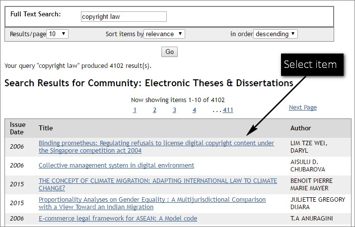Electronic Theses and Dissertations   Educopia