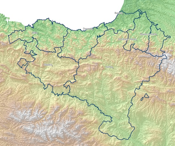 Map of the Basque Country