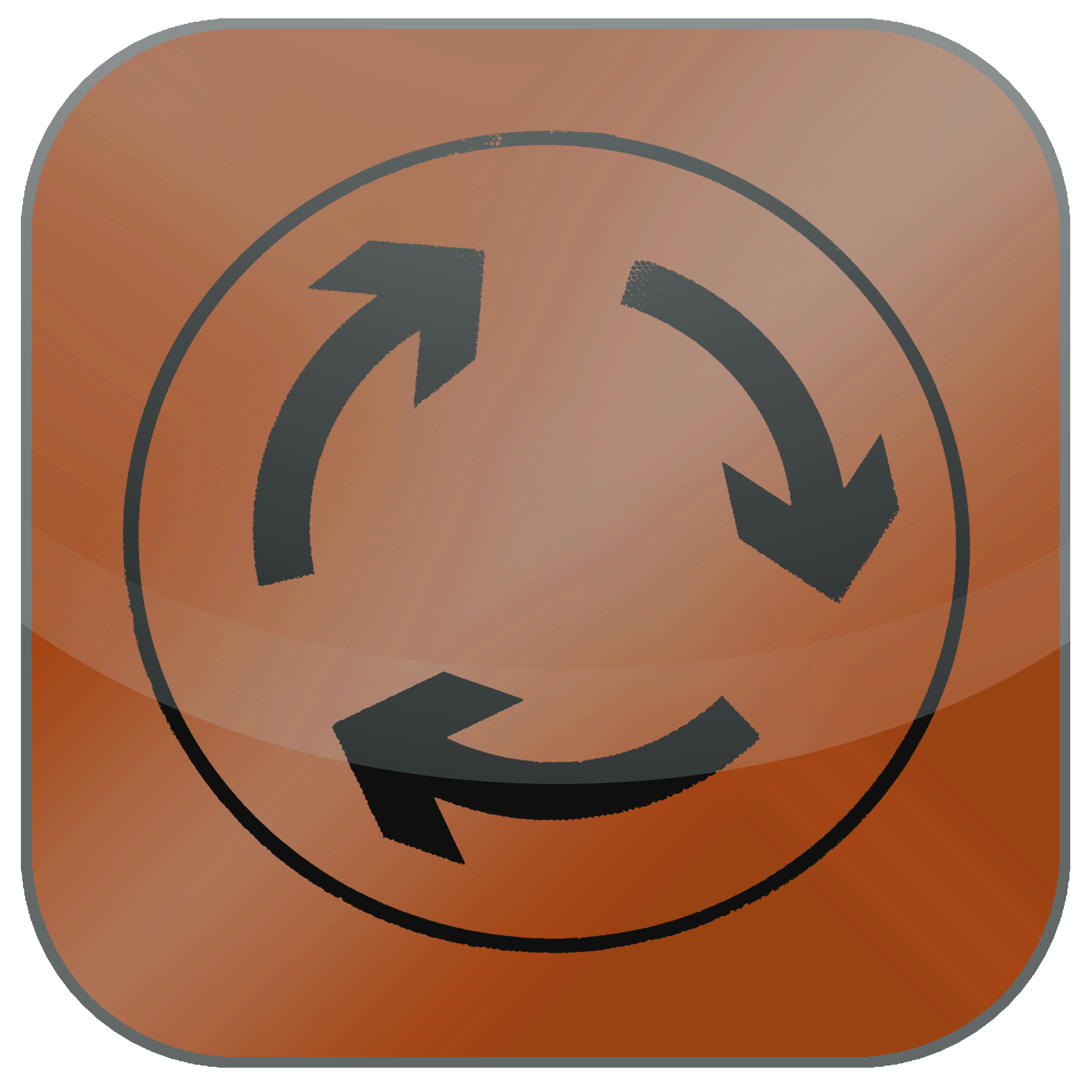 knowledge cycle icon - arrows