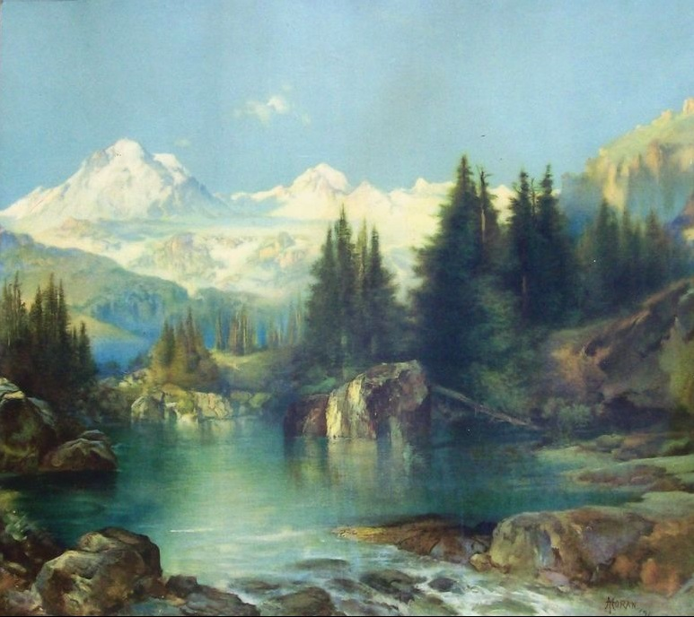 """View of the Rocky Mountains"" by Thomas Moran."