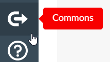 Canvas Commons button
