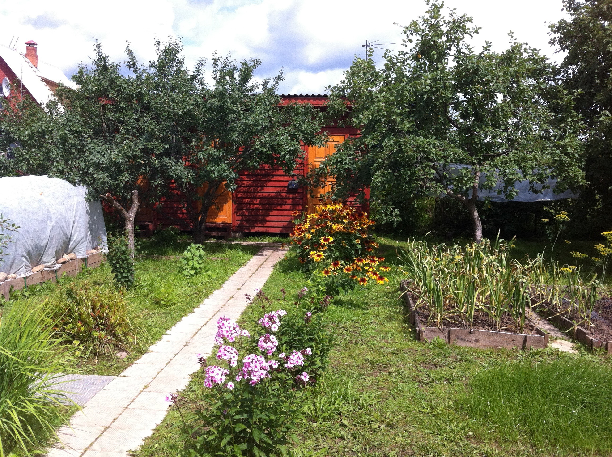 In the garden at a Russian dacha (summer house).