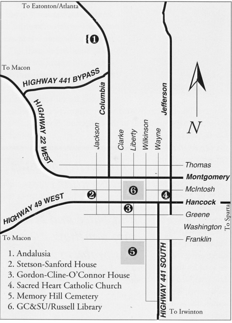 Flannery O'Connor Map
