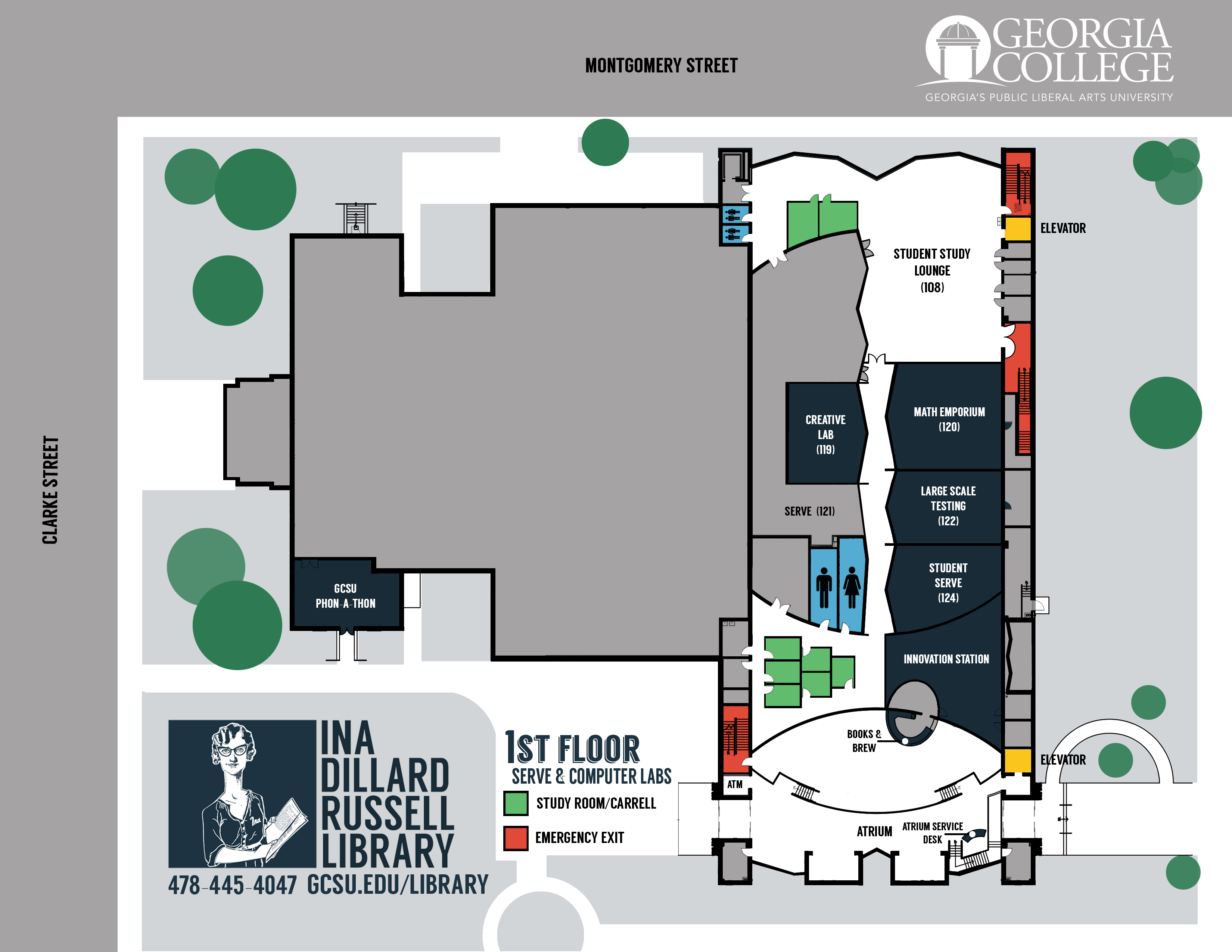 first floor ina dillard russell library maps research guides