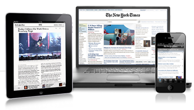 New York Times On Different Devices