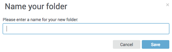 Name your folder pop up box